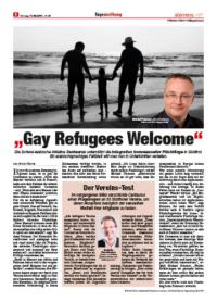 michael peintner Tageszeitung Gay Refugees Welcome Integration homosexueller Flüchtlinge 2016