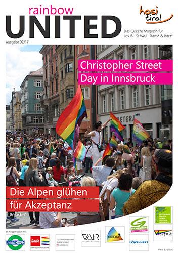 Artikel von Dr. Michael Peintner im Magazin Rainbow united 02 2017 Nr. 10 HOSI Innsbruck, Österreich. Der Sexualpädagoge plädiert für eine Unterstützung von LGBTIQ-Flüchtlingen.