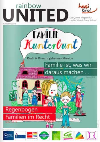 Artikel von Dr. Michael Peintner im Magazin Rainbow united 03 2015 hosi Sexualpädagoge in Südtirol