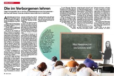 ff Artikel über Teenstar Südtirol, ein fundamentalistischer christlicher Verein, der meint Homosexualität sei therapierbar. Interview mit Michael Peintner, 2019